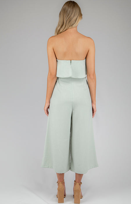 Ruffle Jumpsuit - Mint