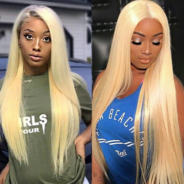 613 blonde 13x1 lace human hair wig
