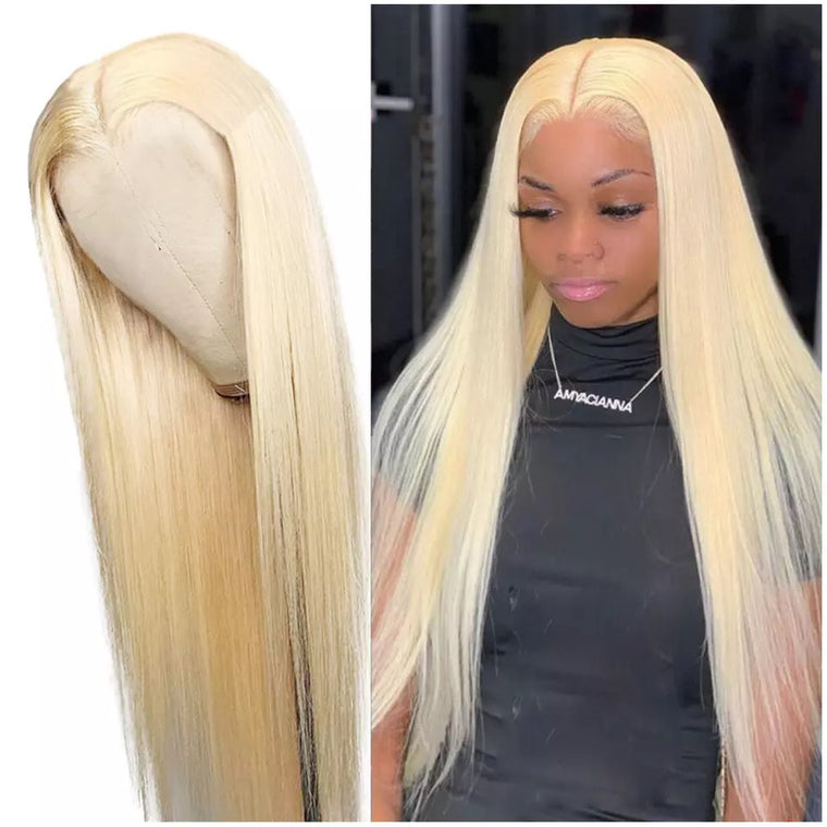 613 blonde 13x4 lace frontal human hair wig 180% Density