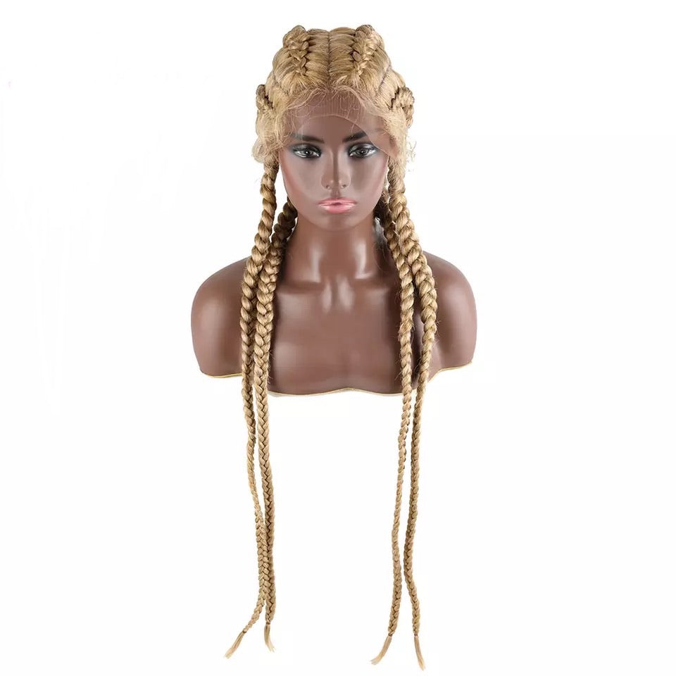 4 Braid Down Wig- blonde.