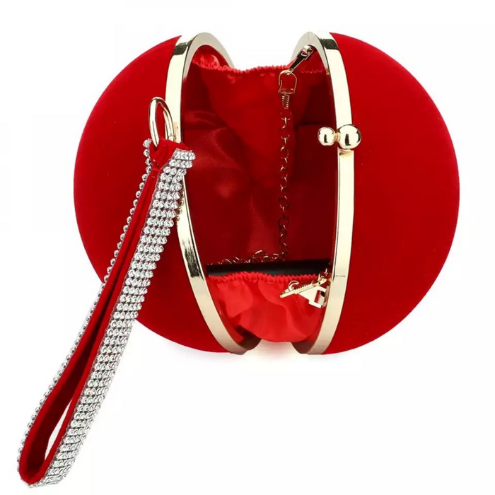 Velvet Iron Clutch- Red