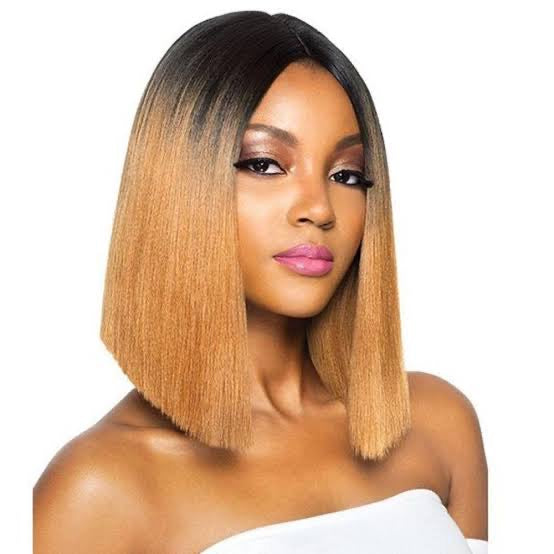 Ombre Bob lace front human hair wigs