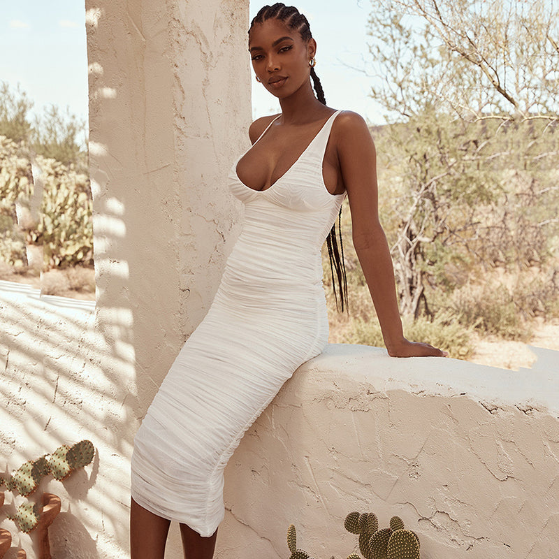 Lenna Mesh Bandage Dress