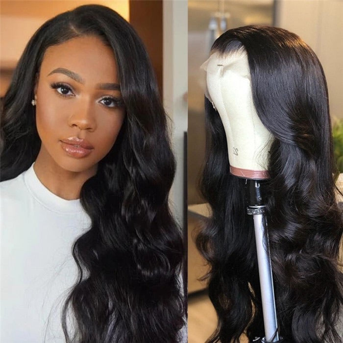 Transparent Lace Body Wave 5x5 Lace Front Human Hair Wigs