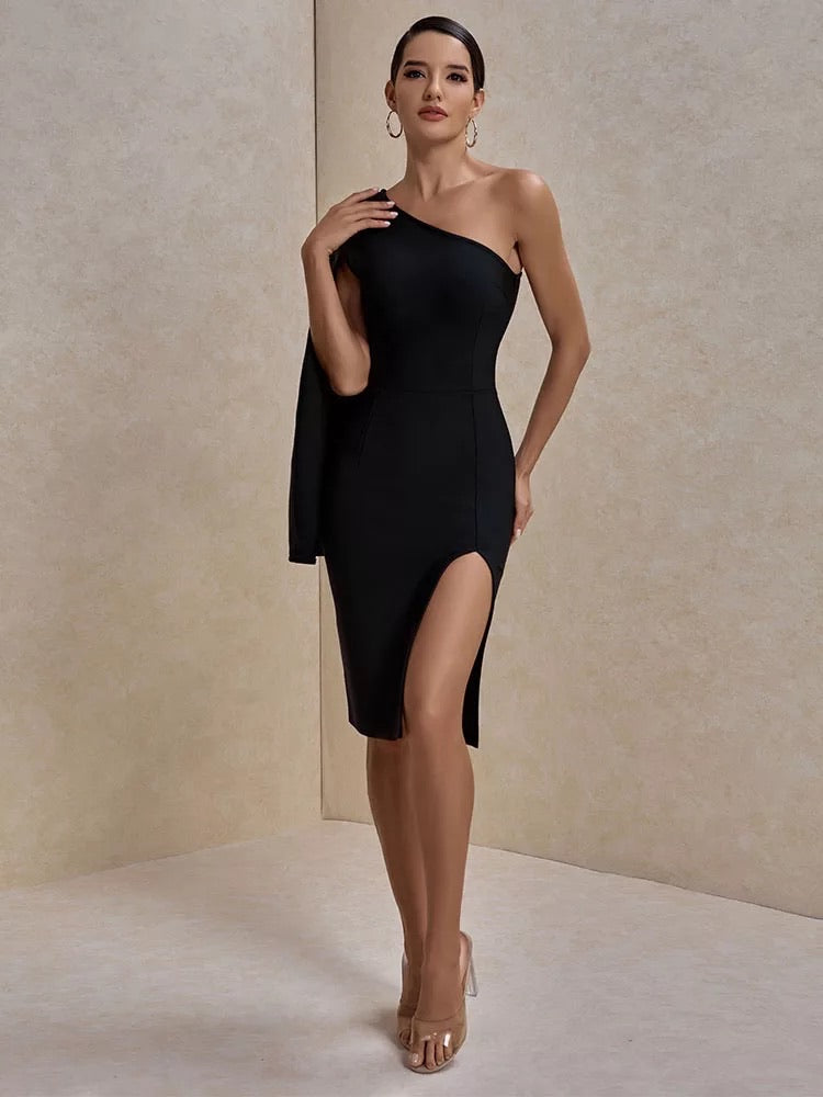 Brenda One Shoulder Bandage Dress