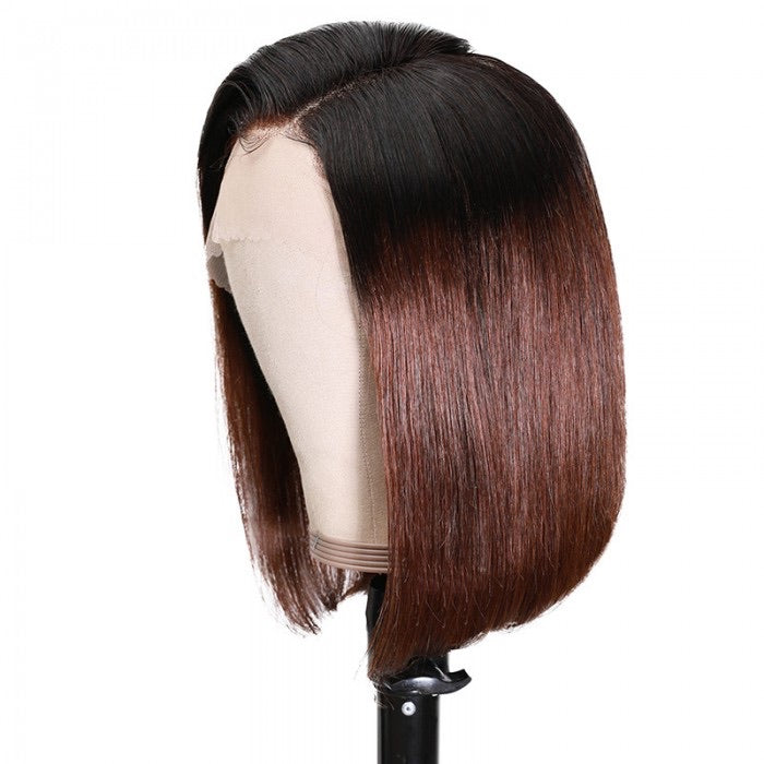Hair Ombre Golden Brown Lace Front Human Hair Wigs