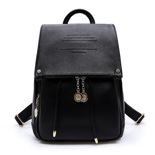 f17ff9bb6d 2017 BAIJIAWEI Design PU Leather Women Backpack Casual School Bags For  Teenagers Girls High Quality Female