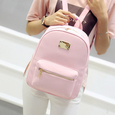 ... Women Backpack Small Size Black PU Leather Women s Backpacks Fashion  School Girls Bags Female Back Pack ... 39b974f70c