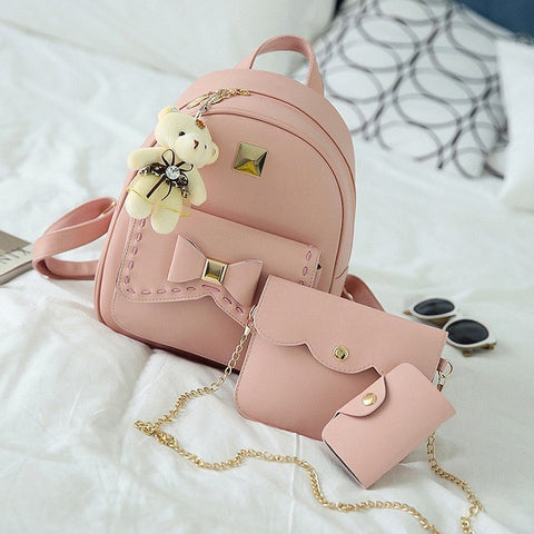 ff185b04e0 ... Kavard Fashion Backpack Women Pu Leather Back Pack Famous Brand School  Bags for Girls sac a ...
