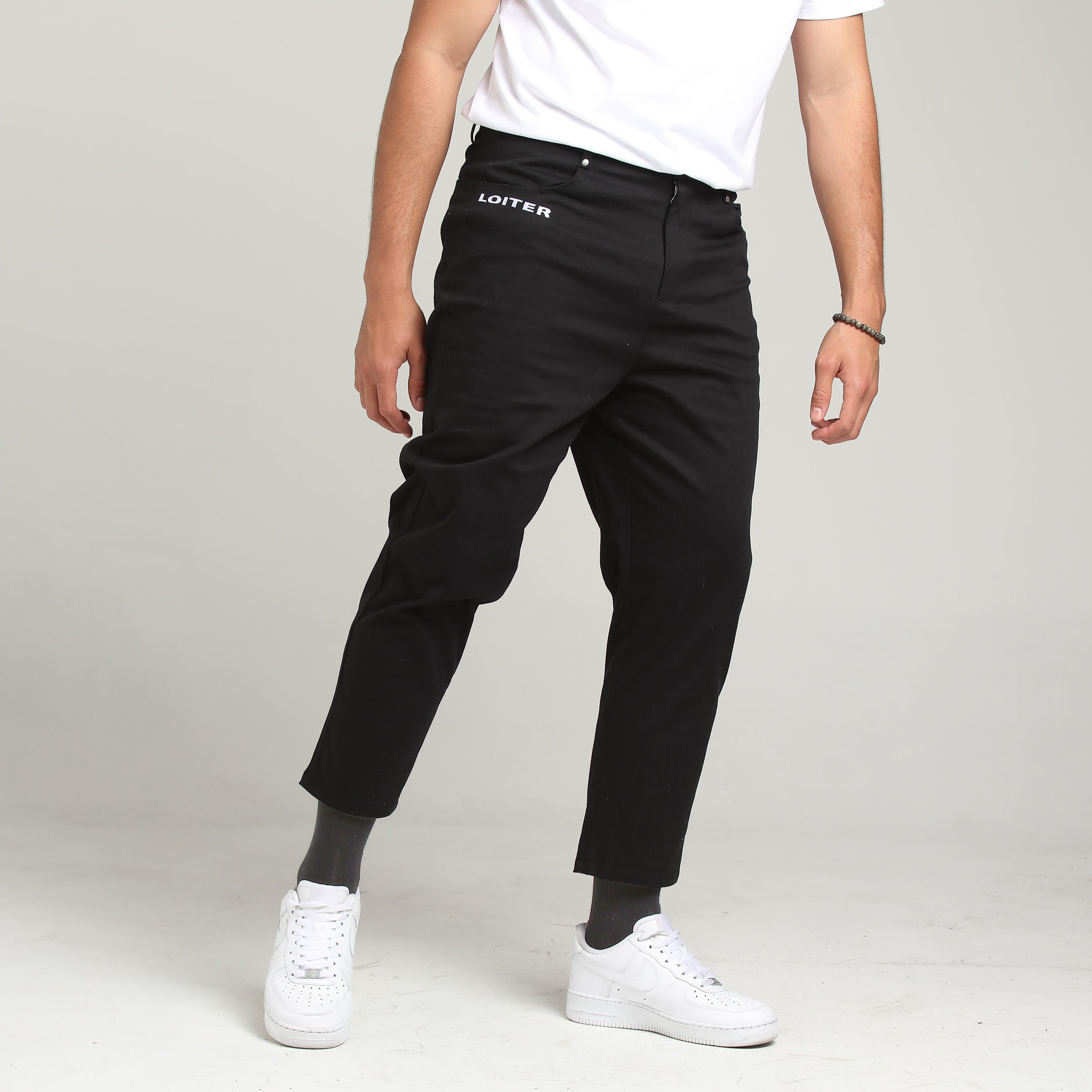 TACTIC CROPPED TROUSERS - Black