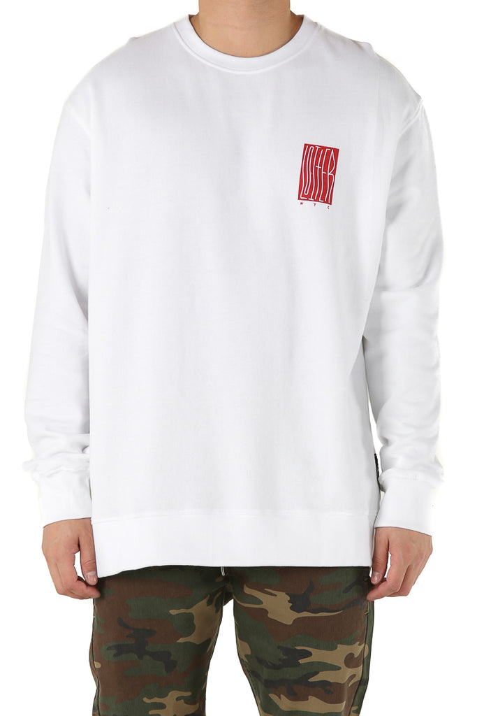 LOITER NYC SWEATER - White