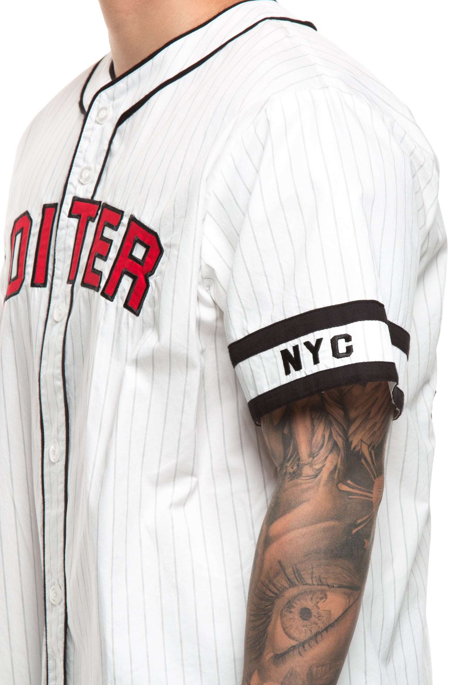 OVERSIZED JERSEY - White/Black/Red