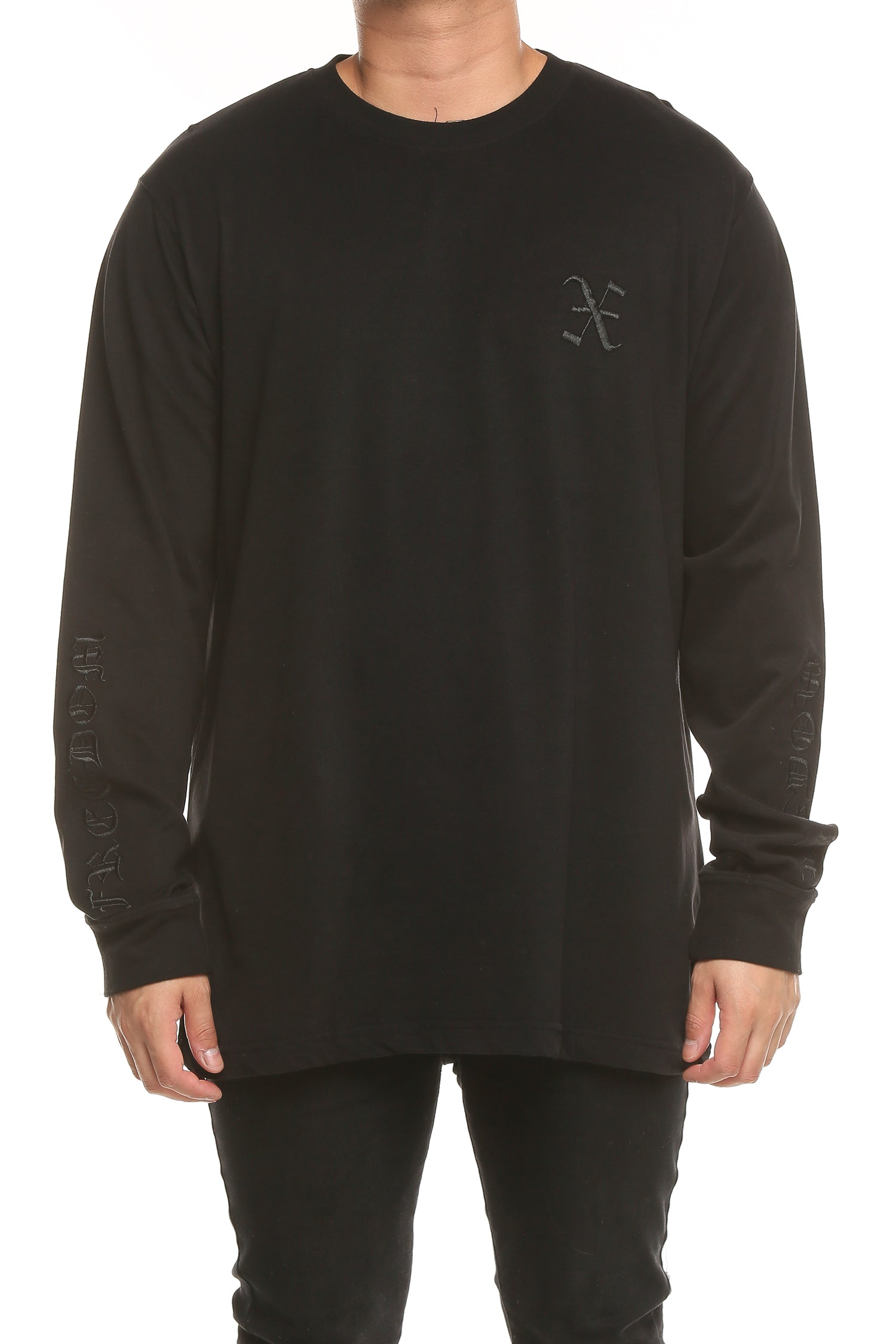 FREEDOM LS TEE - Black