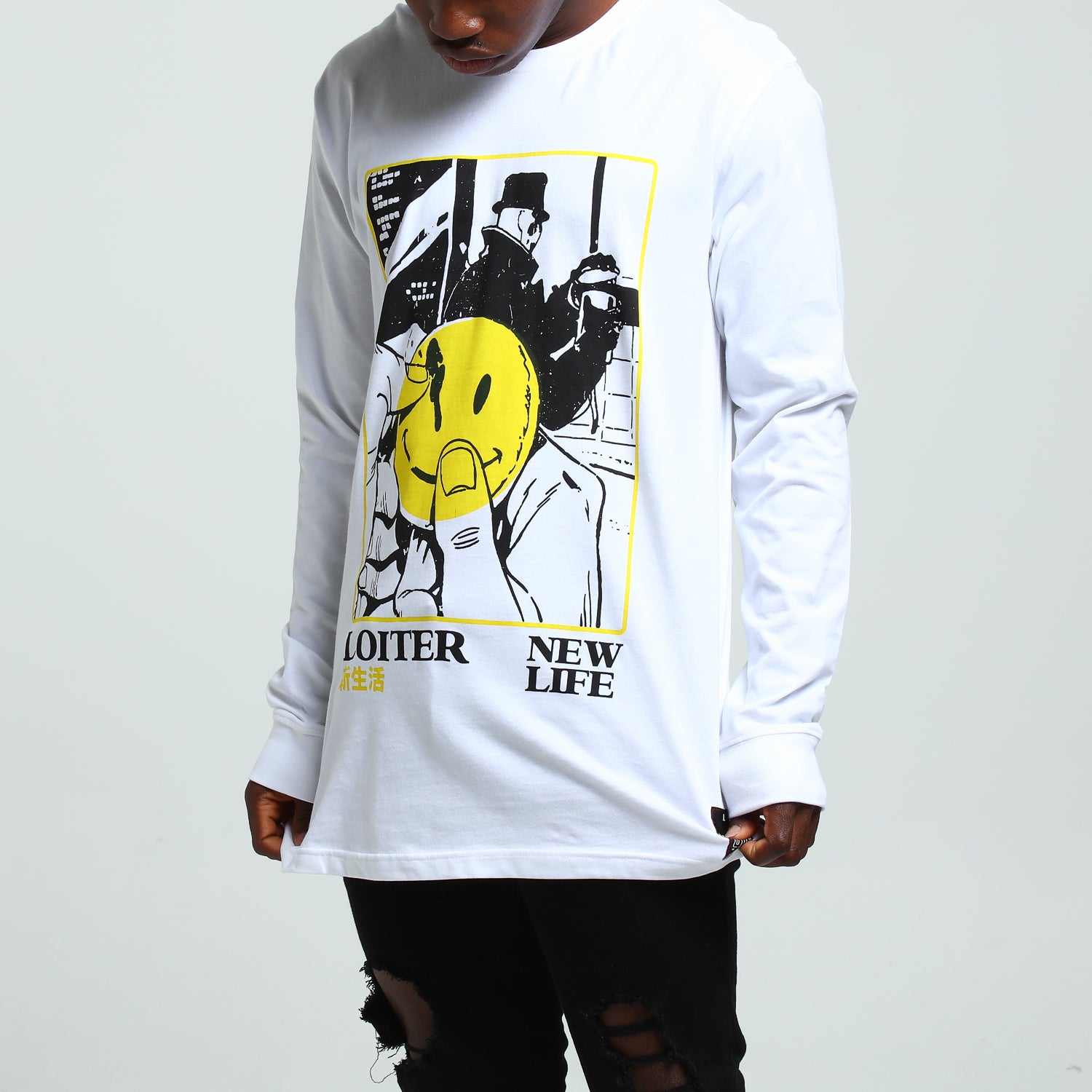 NEW LIFE L/S TEE - White