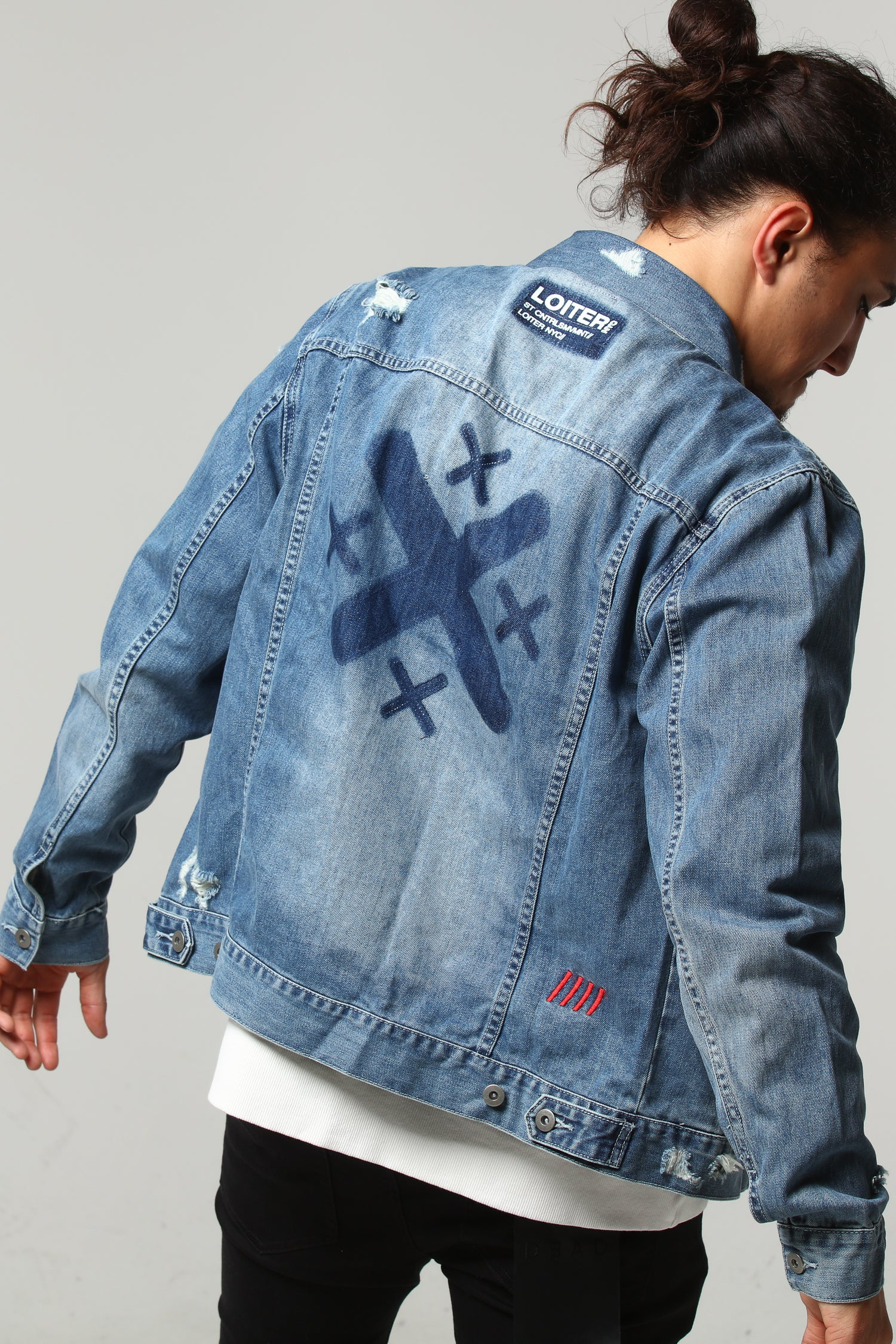 OVERSIZED DENIM JACKET - Washed Blue