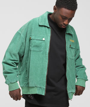 CORDUROY JACKET - Jade/Green