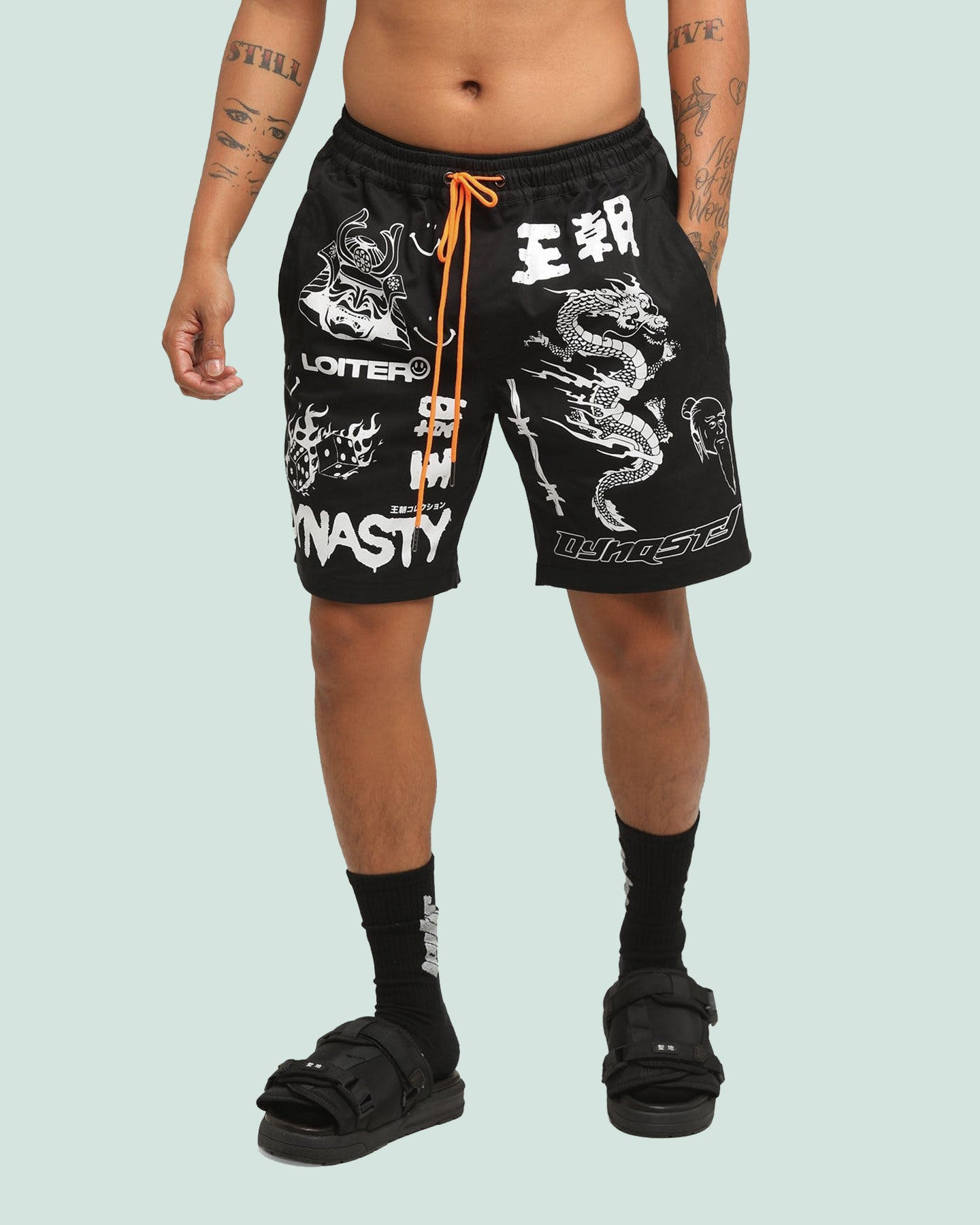 DYNASTY MULTI LOGO SHORT - Black