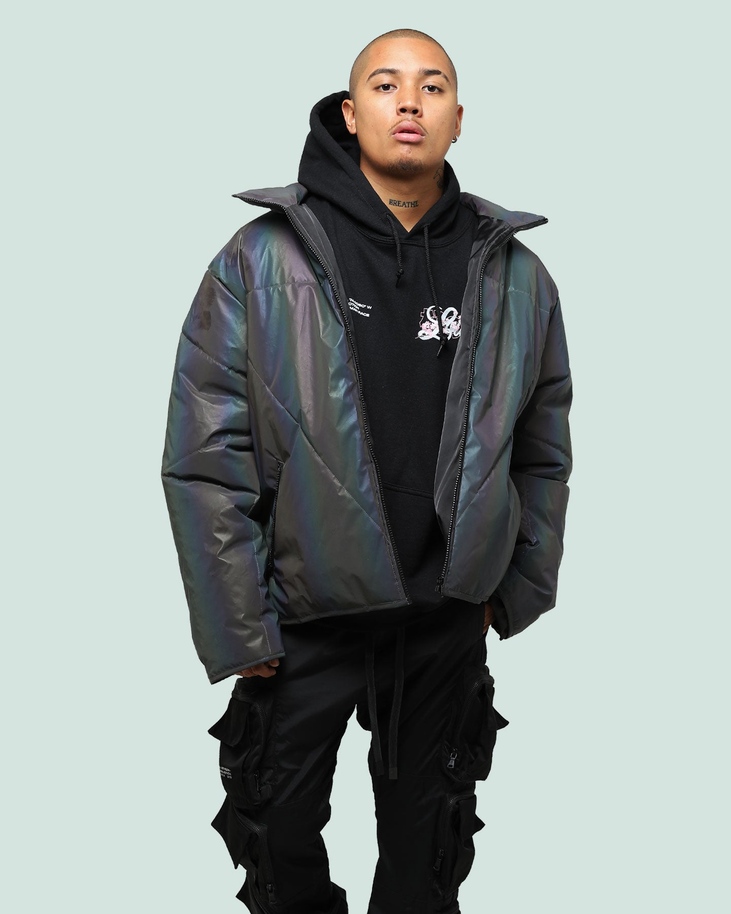SPECTRUM PUFFER JACKET - Multi-coloured