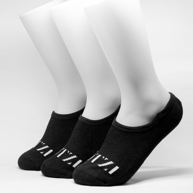 OTZI No Show Sock 3 Pack Black