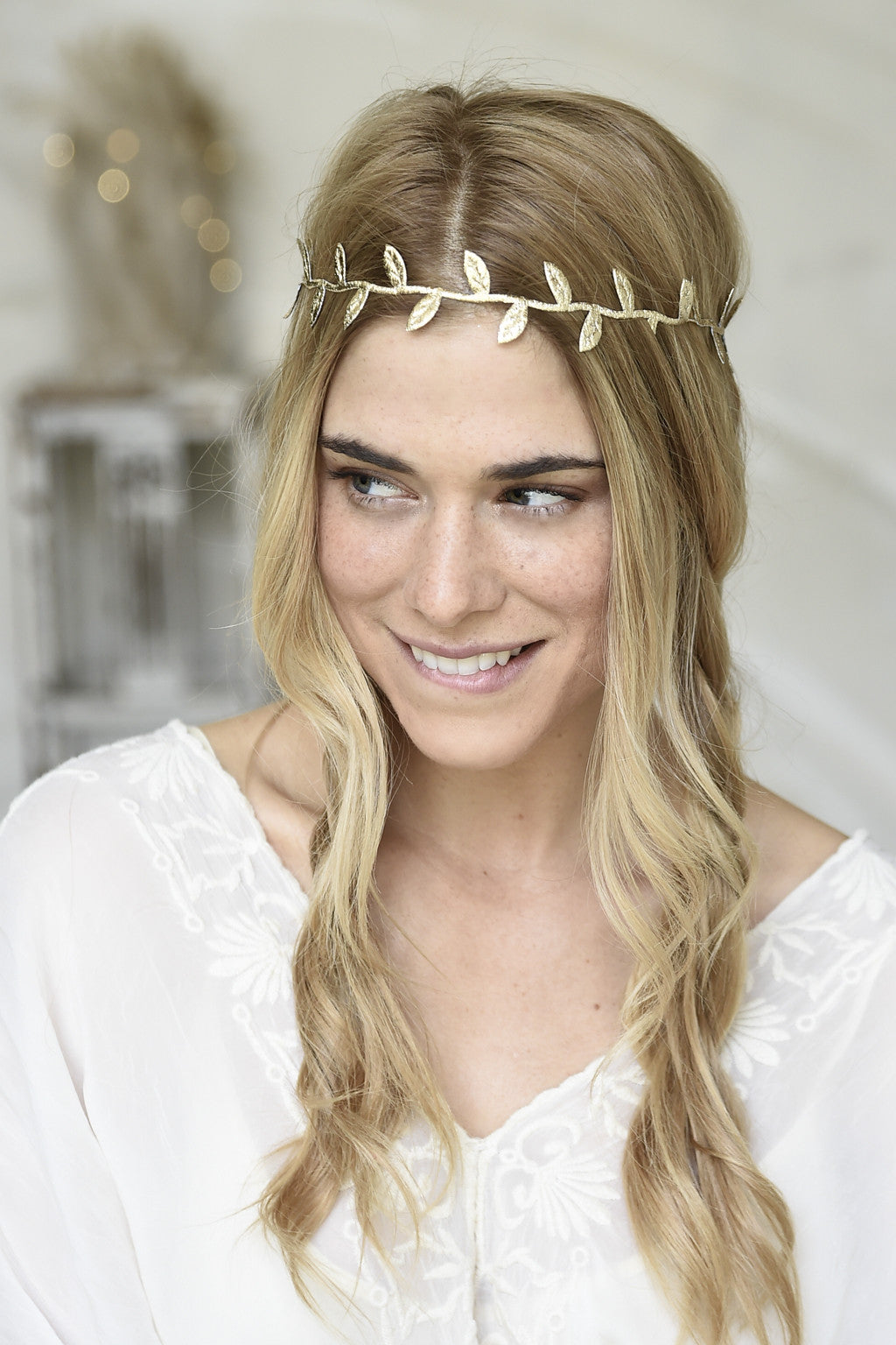 goddess leaf headband. golden e4ceff5b55f