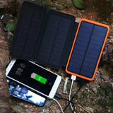 Triple Panel 10,000 mAh Solar Power Bank