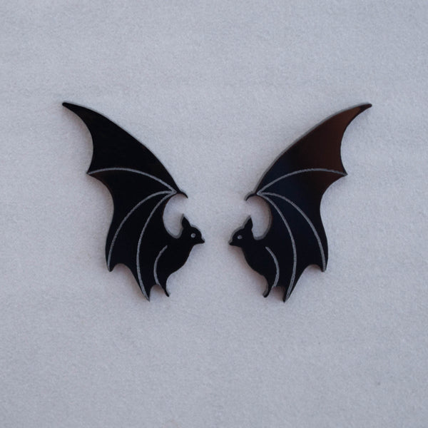 Flying Bat - Acrylic Earrings