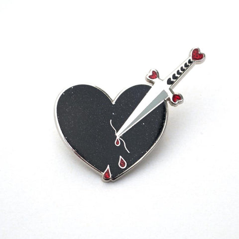 Dagger to My Heart - Enamel Pin
