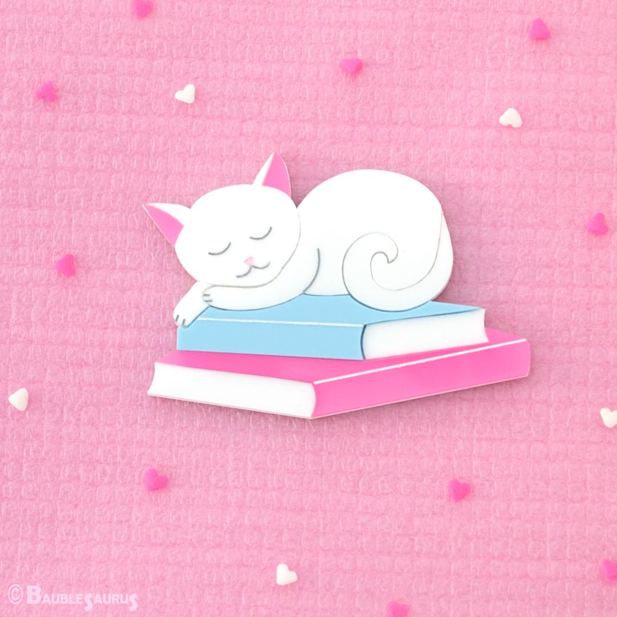 Sleepy Reader - Acrylic Brooch