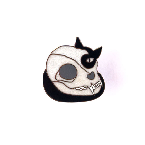 Cat Skull - Enamel Pin
