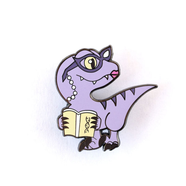 Purple Dinosaur Pin Set