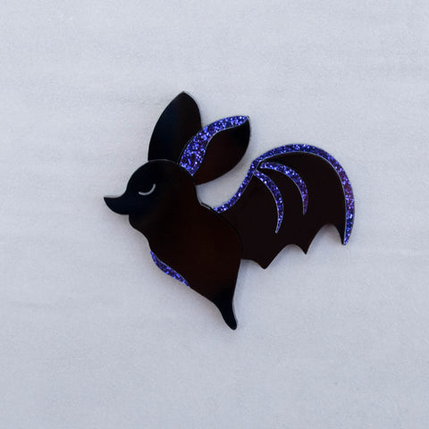 Flying Bat - Acrylic Brooch