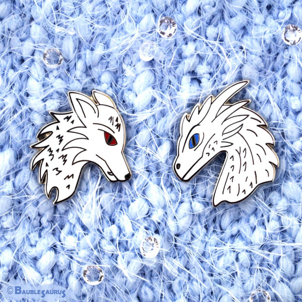 Ice and Fire - Collar Pin Set