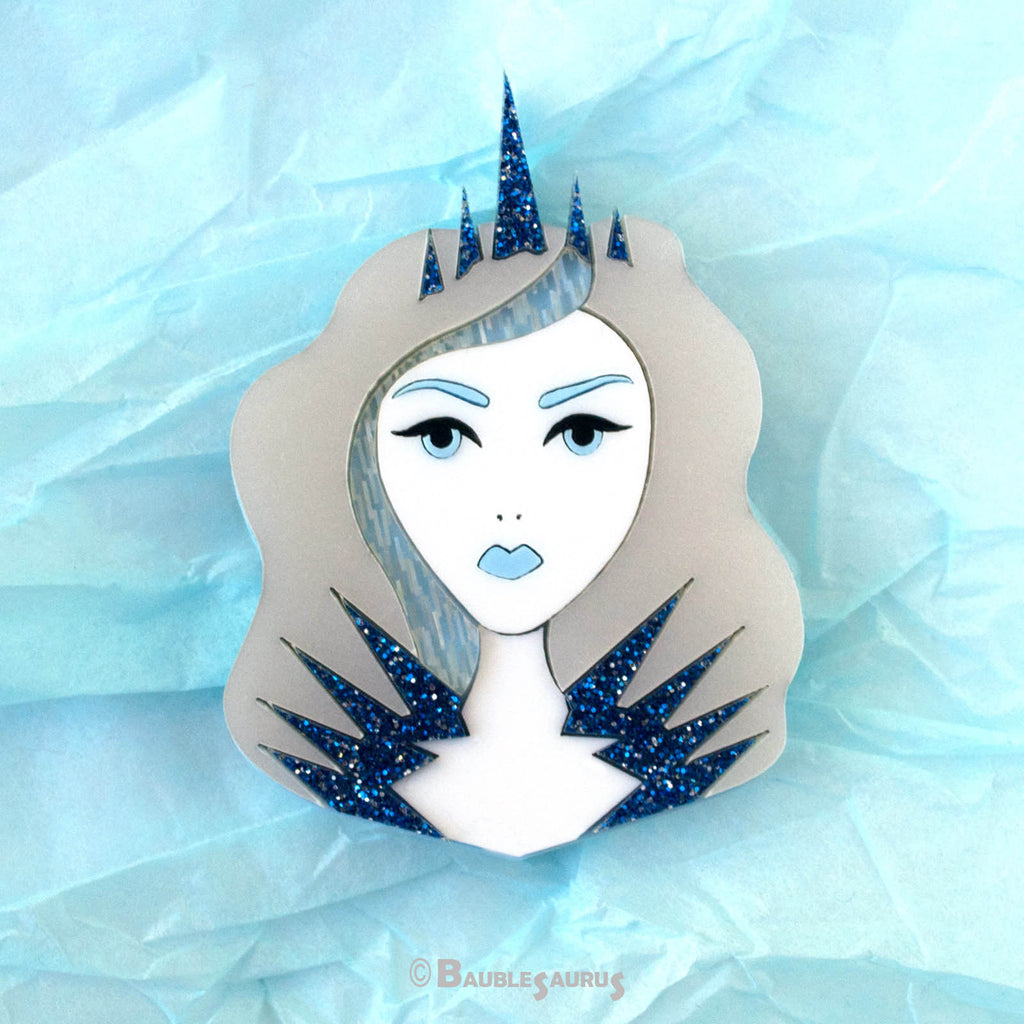 Ice Queen - Acrylic Brooch