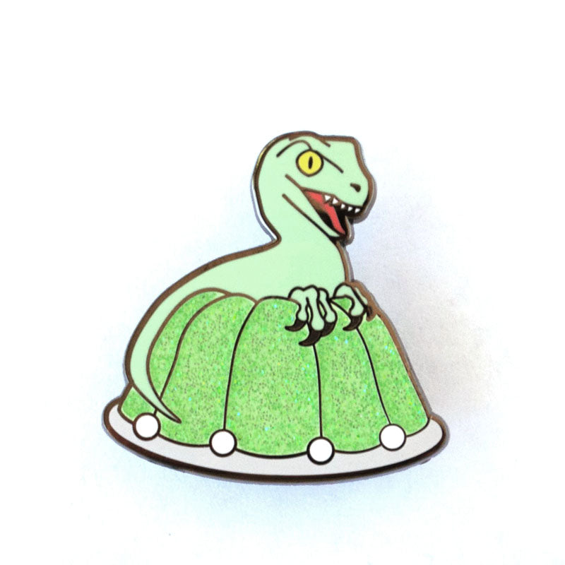 Jello Raptor Enamel Pin