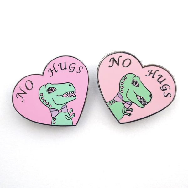 No Hugs Enamel Pin