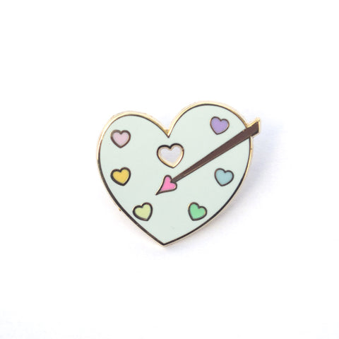 Heart Paint Palette - Enamel Pin