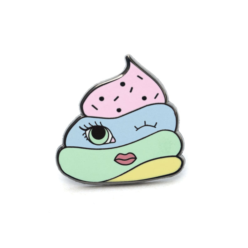 Unicorn Poop Enamel Pin