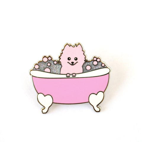Puppy Bath Enamel Pin