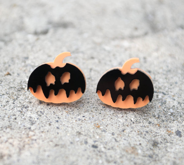 Poison Pumpkin - Acrylic Earrings