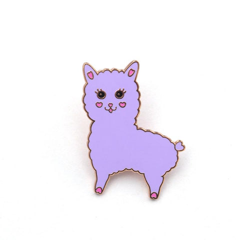 Lovely Alpaca Enamel Pin