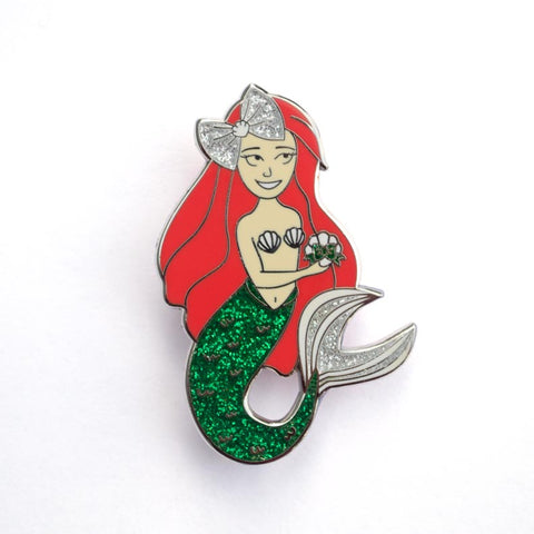 Mermaid's Gift Enamel Pin
