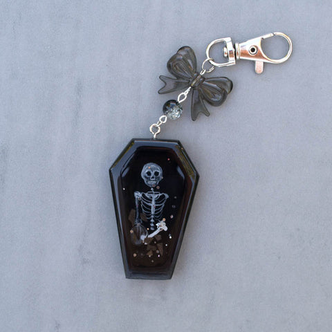 Skeleton Coffin Shaker Charm