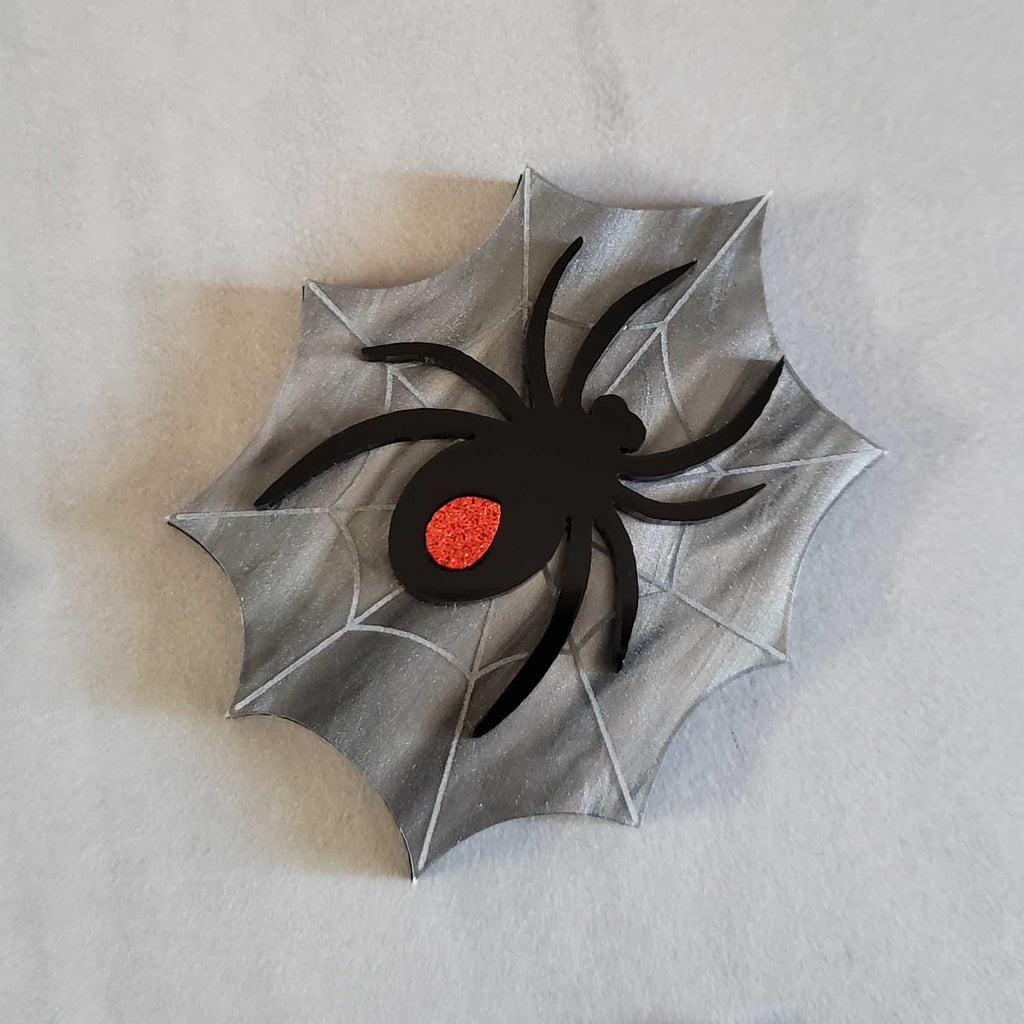 Spider Web - Acrylic Brooch