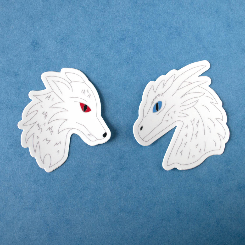 Ice and Fire Vinyl Sticker Set