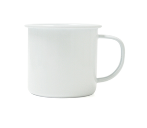 Dishy Enamel Mug White