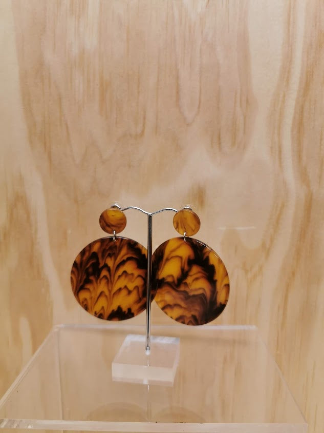 Earrings - Tortoise Shell Discs