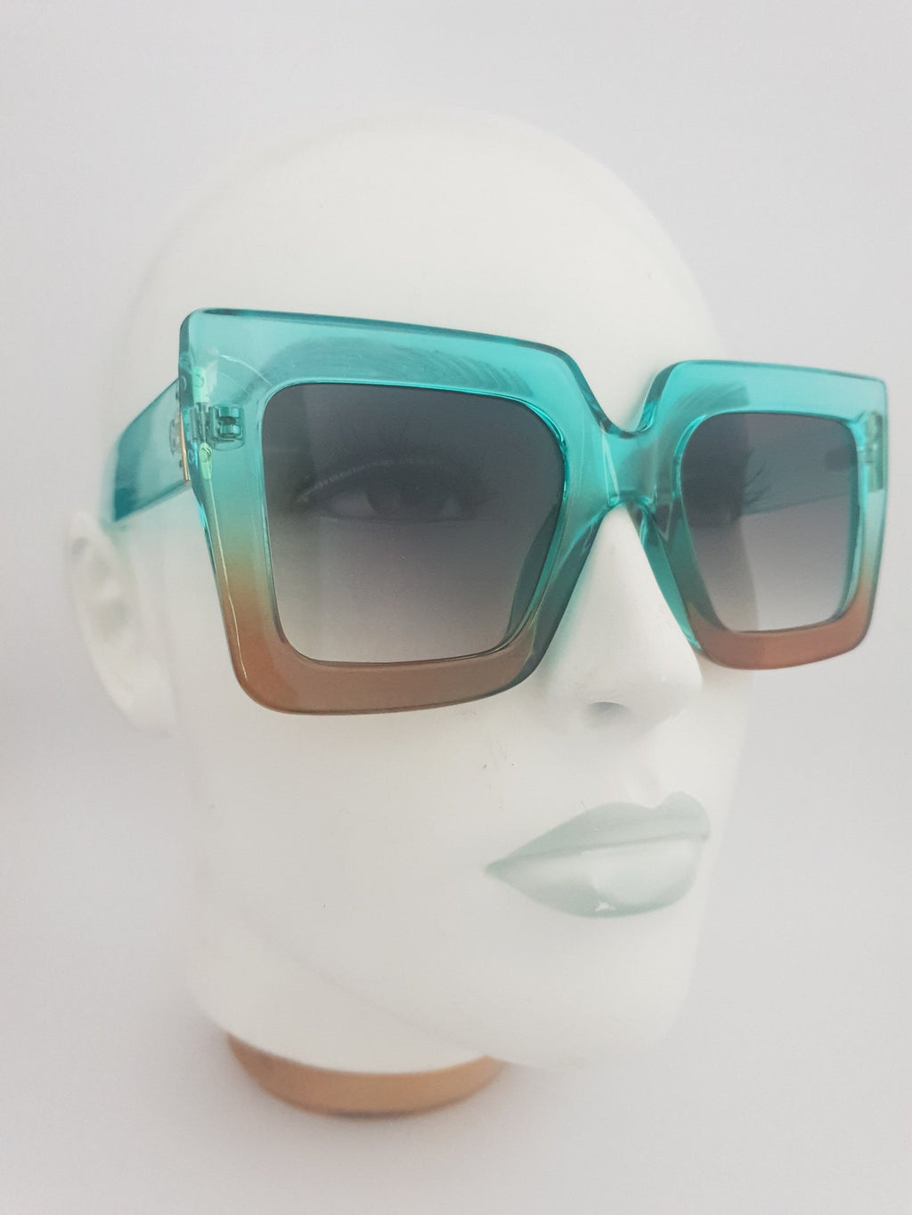 Sunglasses - Harlow - Turquoise/Orange