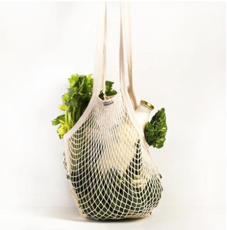 String Produce Bag - Long Handle - Reuse