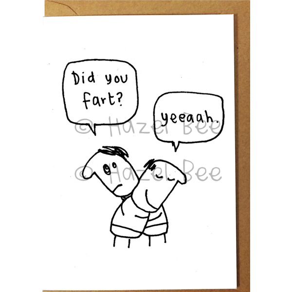 Did You Fart? Card