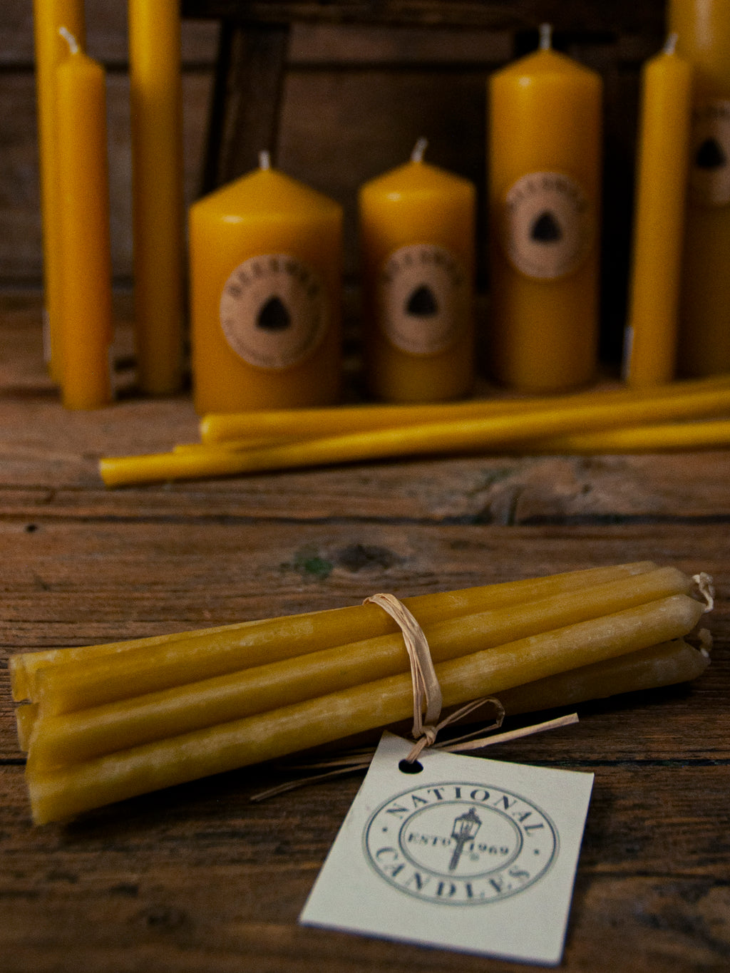 Beeswax Candles - 10 x 9 x 150mm